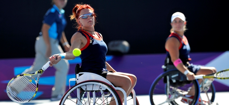 Paralympics London 2012 - ParalympicsGB - Jordanne WHILEY andlucy shuker during their bronze doubles match
